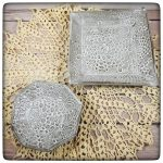 This Week Only: Two Different Crocheted Doily Dishes