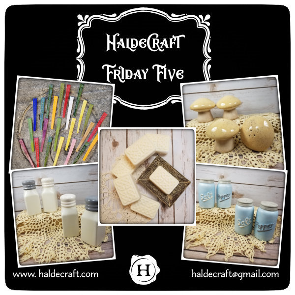 Friday Five: Stakes! Salt! Pepper! Soap!