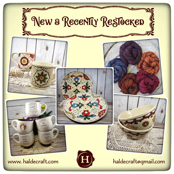 New and Recently Restocked at HaldeCraft