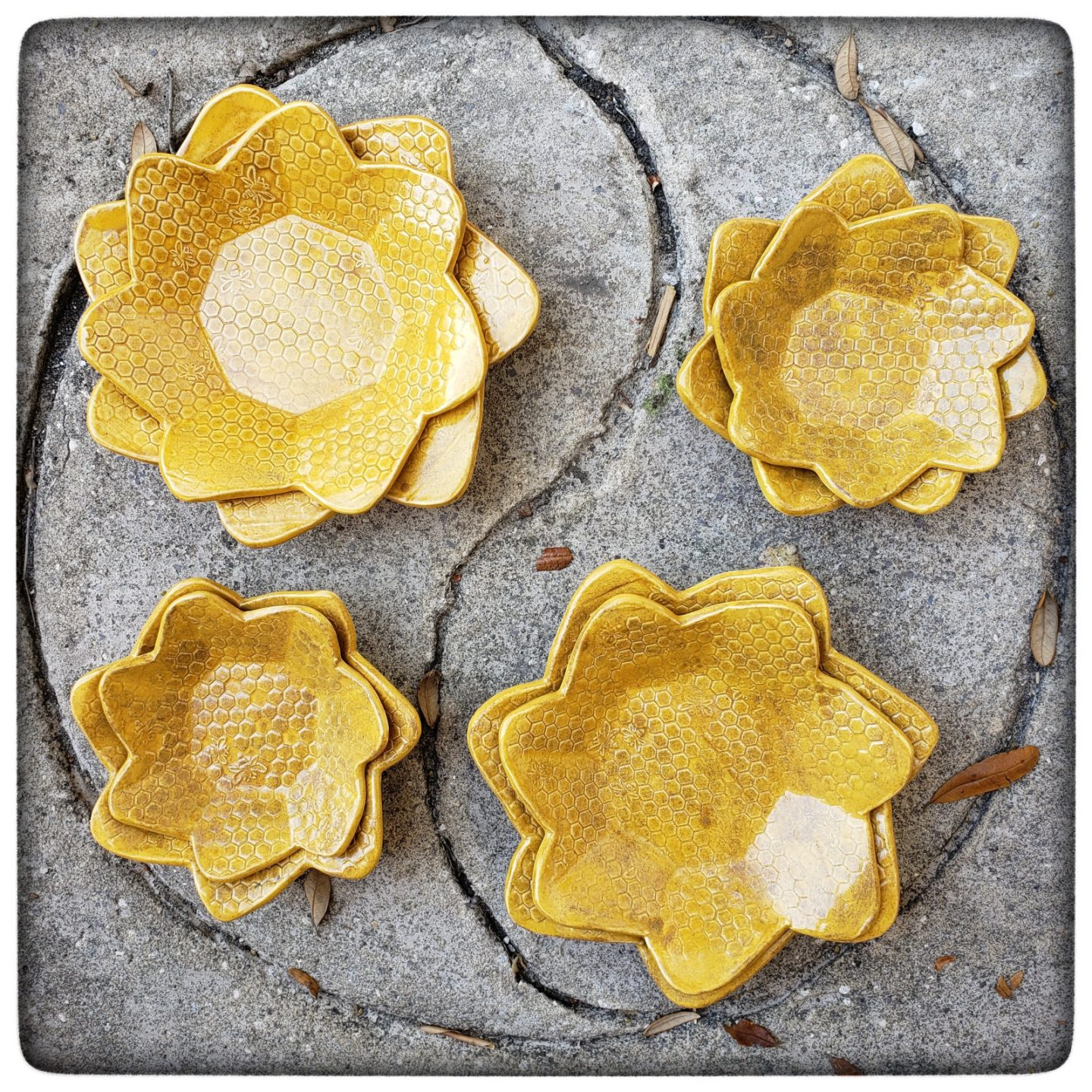 New in the shop: Nesting Honeycomb Dishes